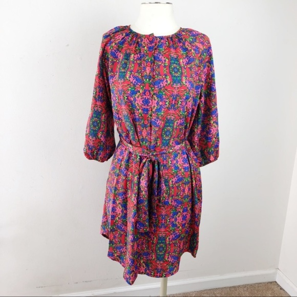 Best Society Dresses & Skirts - Best Society  Button Down Floral Belted Dress